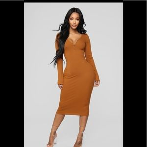 The simplest things midi dress in Rust